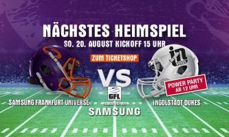 Der Spieltagssplitter zum Heimspiel gegen die Ingolstadt Dukes